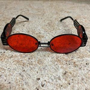 Lava Red & Black Dragon Oval Frames